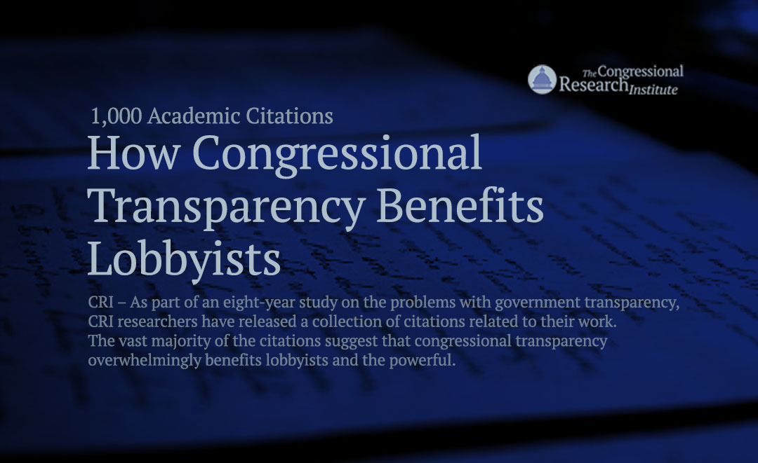 Congress Eyes Changes To Able Act >> Academic Citations On The Pitfalls Of Congressional Transparency